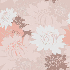 Fototapeta vector seamless flower wallpaper