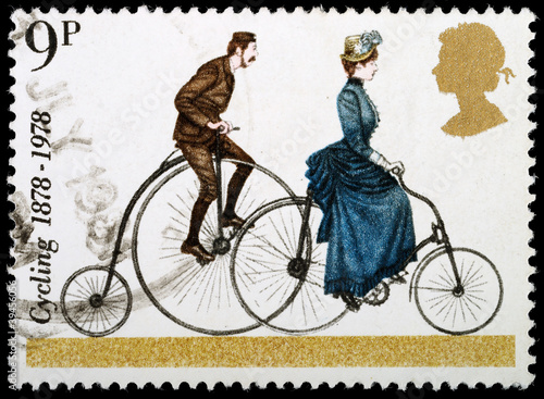 Aluminium Prints Bicycle Bicycle Postage Stamp