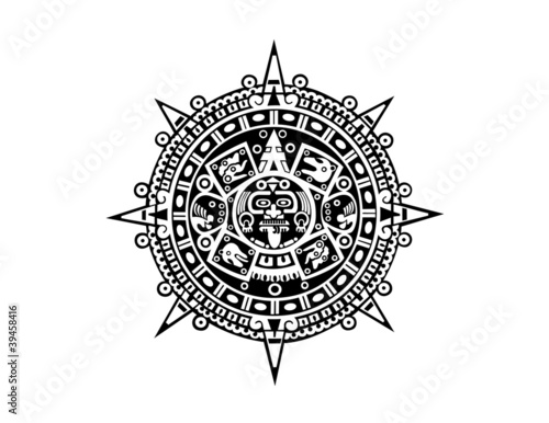 Fotografie, Obraz aztec calendar