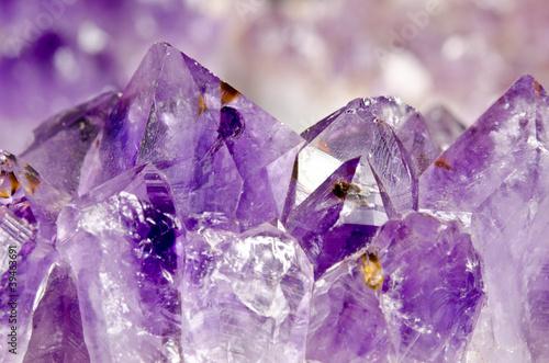 Fotografie, Obraz  amethyst makro, Kristalllandschaft