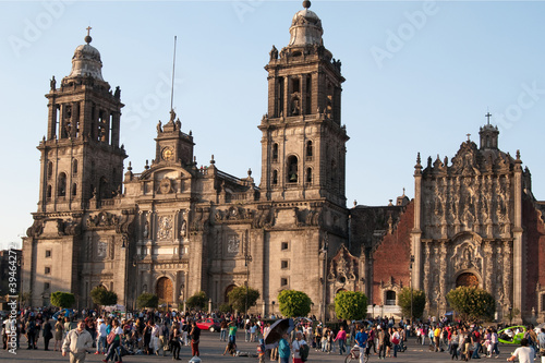 Foto op Canvas Mexico Kathedrale, Mexiko City