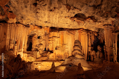 Fotografie, Obraz  Limestone formations, Cango caves, South Africa