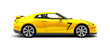 Yellow sport car - side view