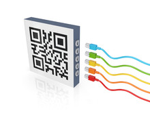 QR Code And Colorful Patch Cords.