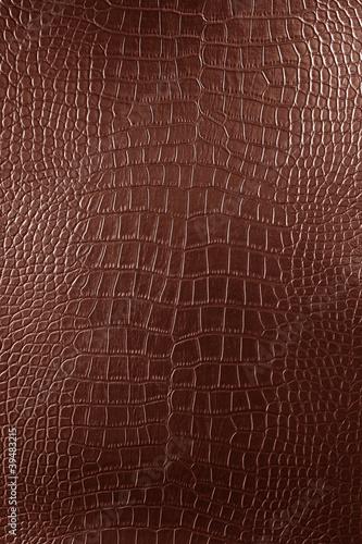 Fotografía  Brown Crocodile leather texture