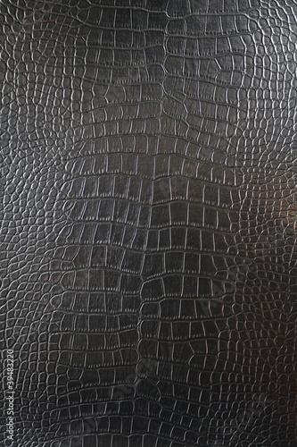 Papiers peints Crocodile Black Crocodile leather texture