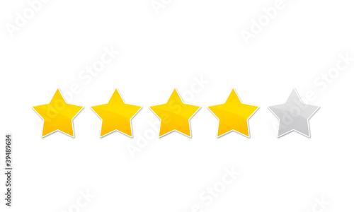 Photo évaluation avis - quatre étoile