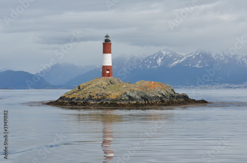 Garden Poster Lighthouse Lighthouse around Ushuaia Bay
