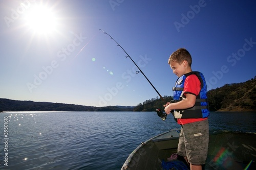 Foto op Canvas Vissen Father/Son Fishing