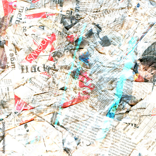 Poster Kranten Abstract newspaper dirty damaged background