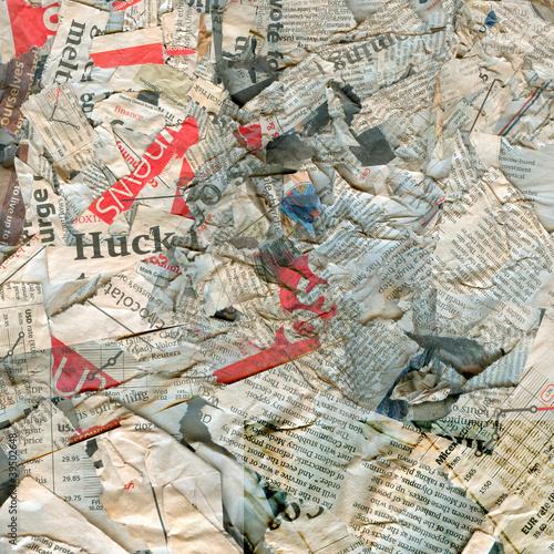 Fotobehang Kranten Abstract newspaper texture