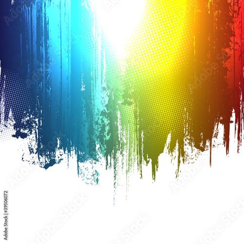Gradient paint splashes background. Vector eps10 effect Canvas Print