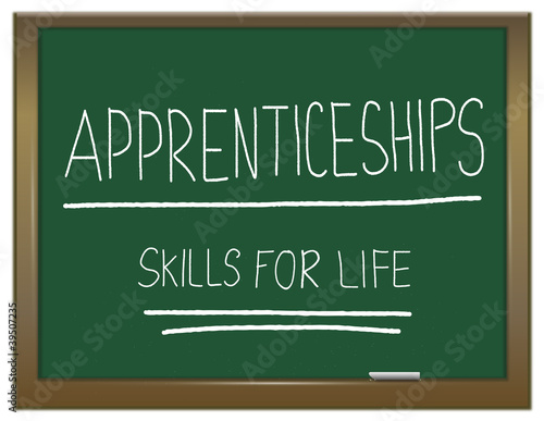 Apprenticeship cocept. Canvas Print