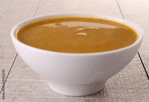 Foto op Plexiglas Chocolade bowl of soup