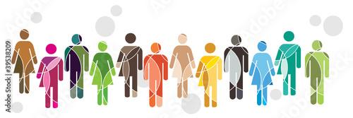 Foto Human diversity concept