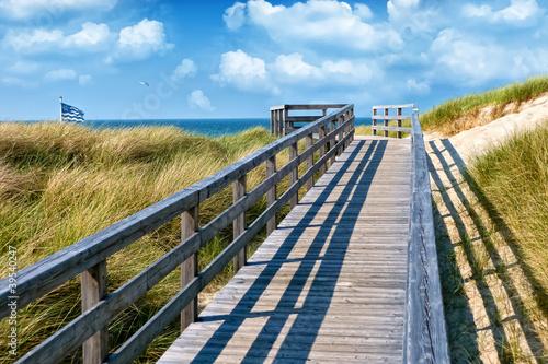 Foto-Schiebegardine Komplettsystem - Weg zum Strand