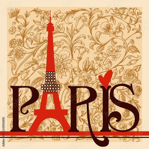 Obrazy Paryż  paryz-dekoracyjne-napisy