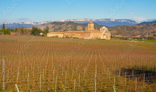 Iratxe monastery and vineyards, Ayergui, Navarre