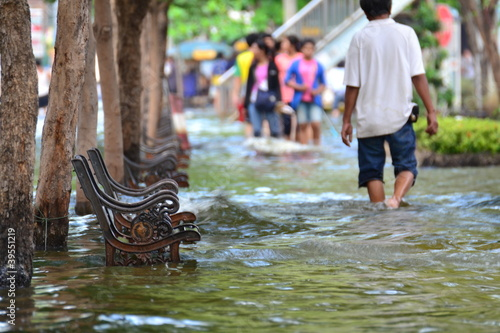 Fotografie, Obraz  Thailand flood