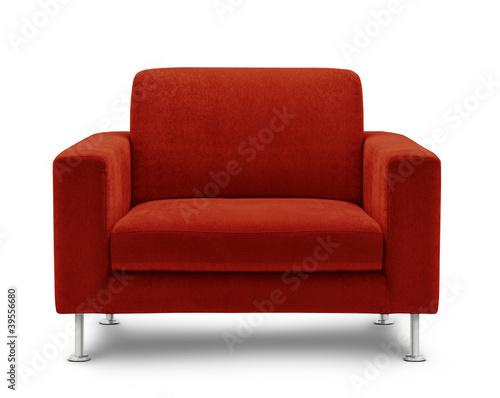 Fotografie, Obraz  sofa seat isolated on white background