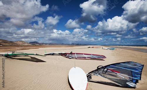 Windsurfing, Playa de Sotavento, Fuerteventura