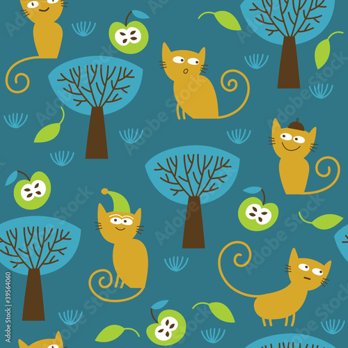 wzor-z-uroczymi-kotami