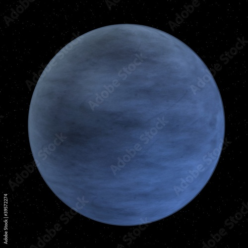 Photo  3d render of pluto (former planet)