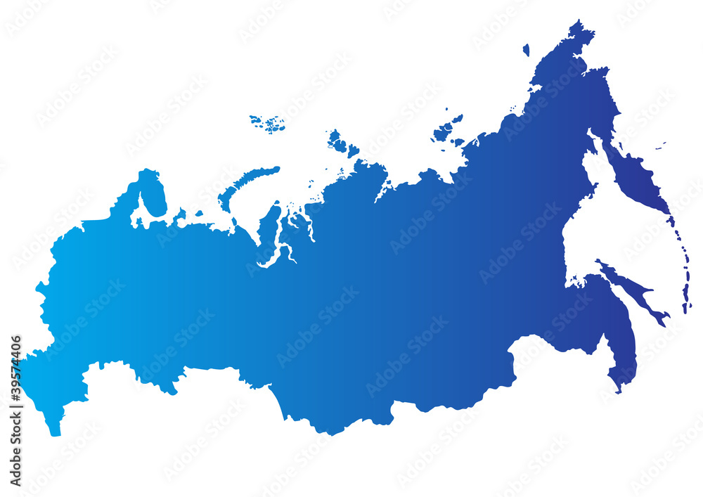 Fototapety, obrazy: Vector map of Russia