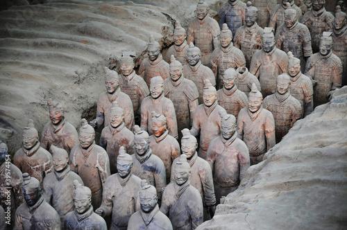 Fond de hotte en verre imprimé Xian Armée de terracotta à Xian - China