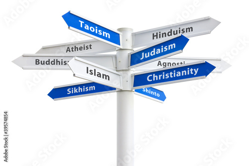 Photo Religions of the World Sign