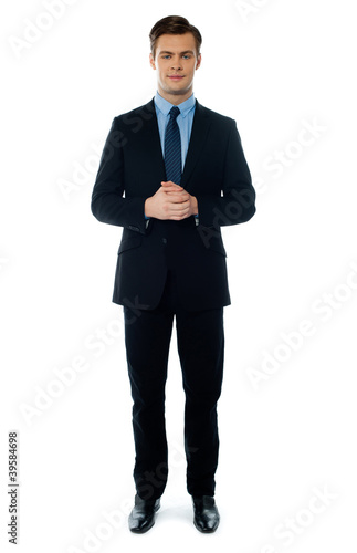 Young handsome businessperson posing Canvas-taulu