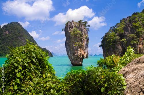 Spoed Foto op Canvas Nieuw Zeeland James Bond island in Thailand