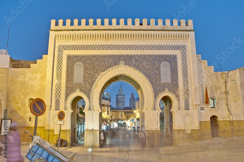 Papiers peints Maroc Bab Bou Jeloud gate at Fez, Morocco