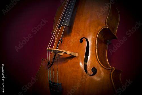 Fototapeten Musik Contrabbasso