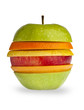 Apple made of multiple fruit slices