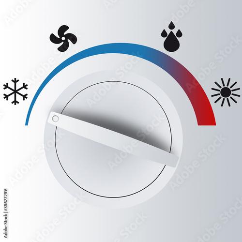 Control temperatura Canvas Print