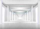 Białe wnętrze. Ilustracji wektorowych. - 39634277