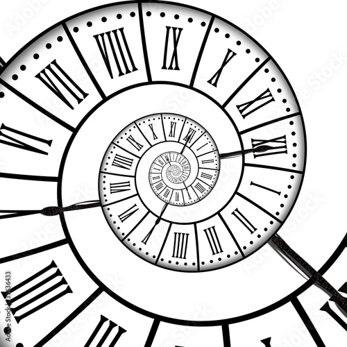 Printed kitchen splashbacks Spiral Horloge ancienne, spirale