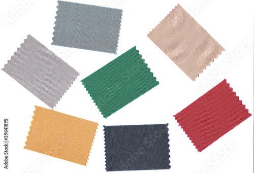 Fotografia, Obraz  Echantillons de tissus de couleurs.