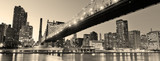 Fototapeta Bridge - New York City night panorama