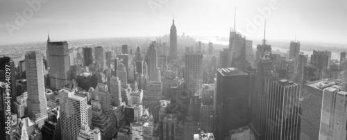 Panoramę Nowego Jorku czarno-białe