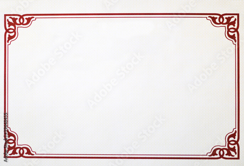 Obraz Certificate Border - fototapety do salonu