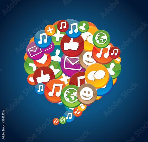 social media icons - communication #39655236