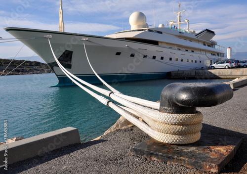 amarrage yacht cordage