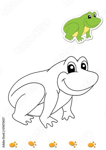 Animali Da Colorare Rana Buy This Stock Illustration And Explore