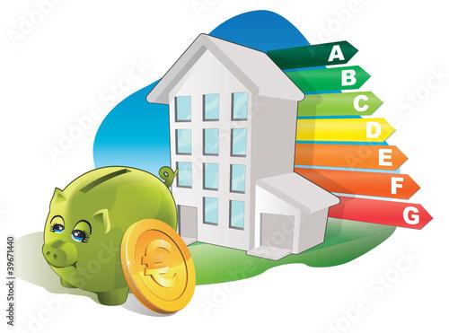économie d'énergie des immeubles BBC Canvas Print