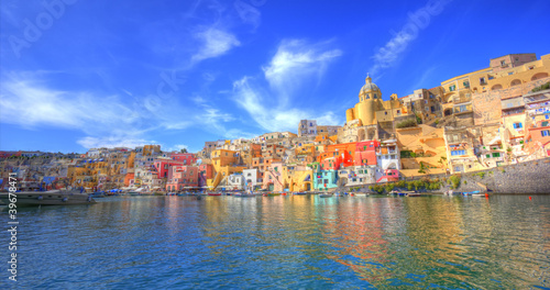 Deurstickers Napels Procida, Isola nel mar mediterraneo, Napoli