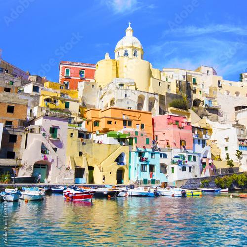 Foto-Kassettenrollo premium - Procida, Isola nel mar mediterraneo, Napoli