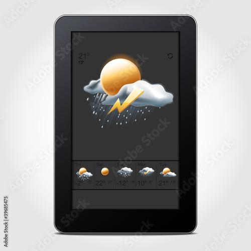 Carta da parati Tablet weather
