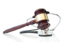 Stethoscope And Judges Gavel